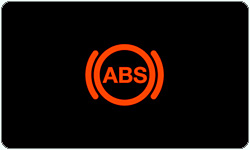 ABS brakes warning light