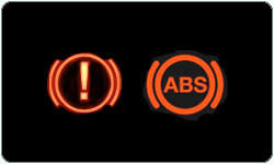 ABS and Brakes warning lights