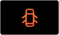 Door ajar warning light